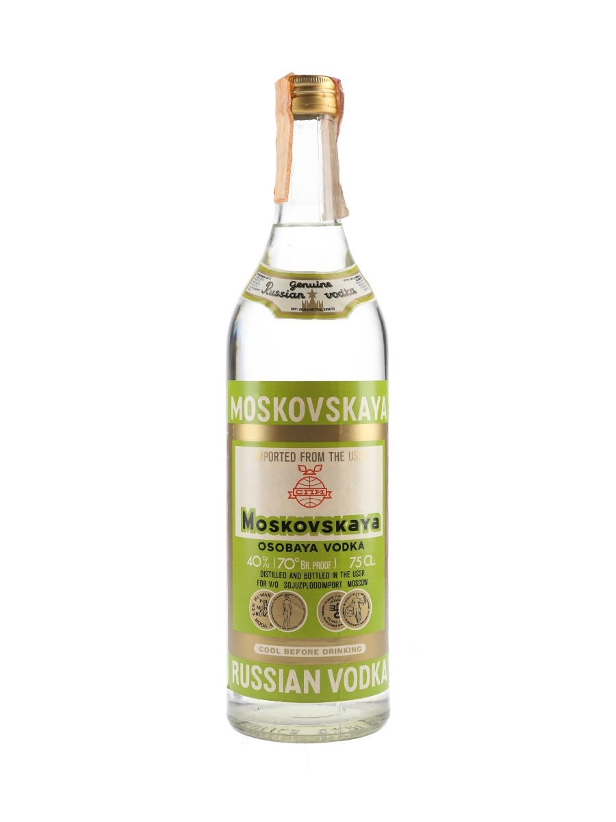 Moskovskaya Russian Vodka Bottled 1980s 75cl / 40%