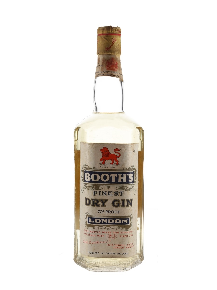 Booth's Finest Dry Gin Bottled 1958 75cl / 40%