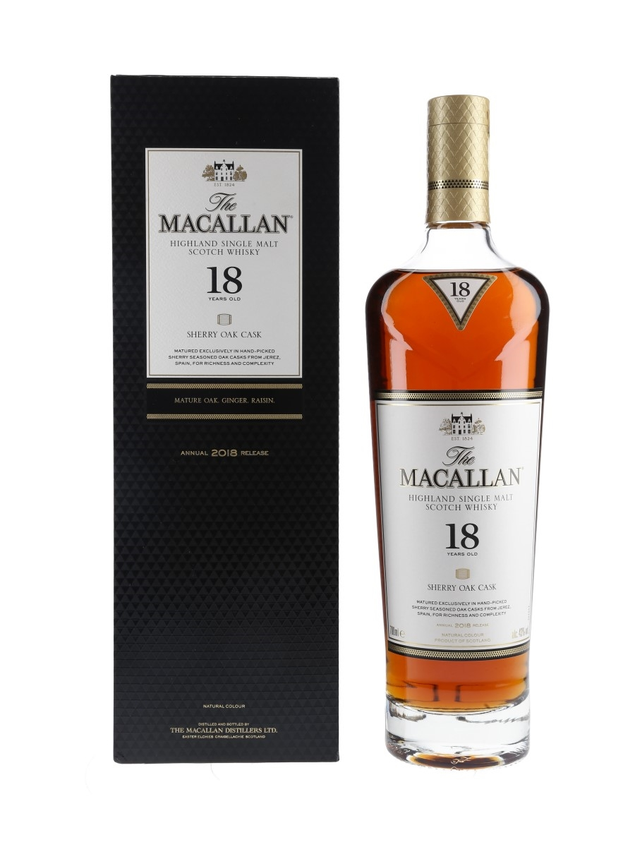 Macallan 18 Year Old Sherry Oak Annual 2018 Release 70cl / 43%