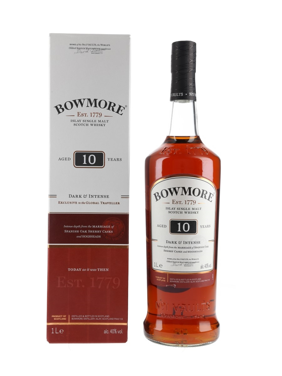 Bowmore 10 Year Old Dark & Intense 100cl / 40%