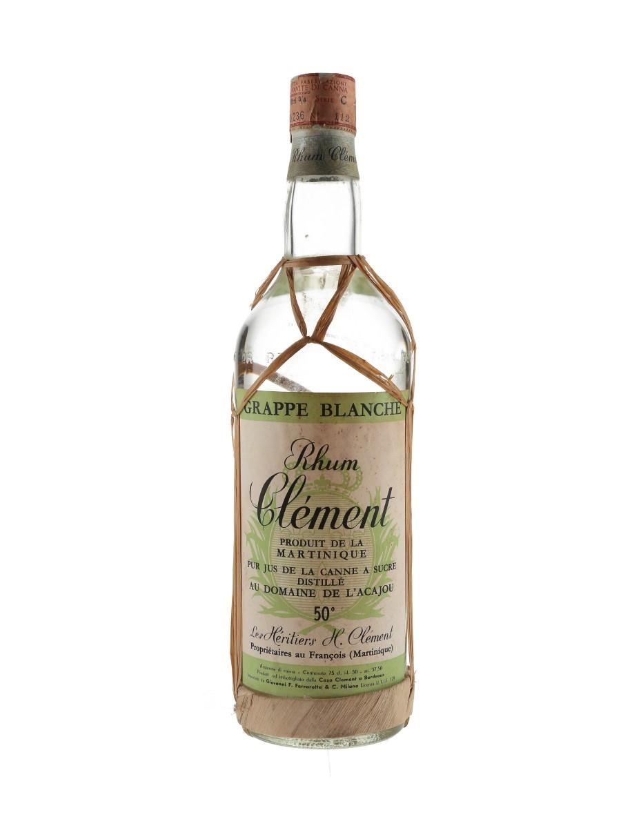 Clement Rhum Blanc Agricole Bottled 1960s-1970s - Ferraretto 75cl / 50%
