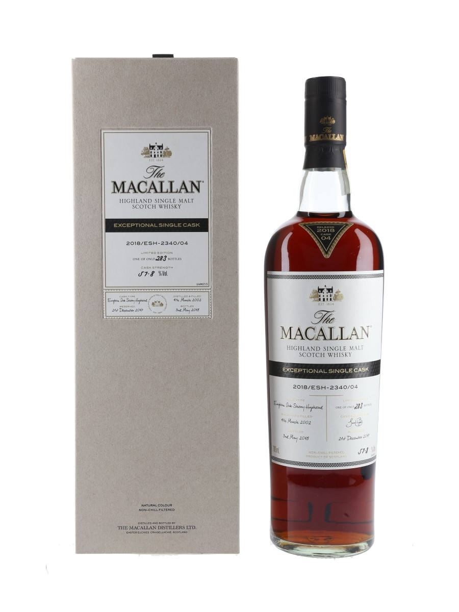 Macallan 2002 Exceptional Single Cask 04 2018 Release 70cl / 57.8%