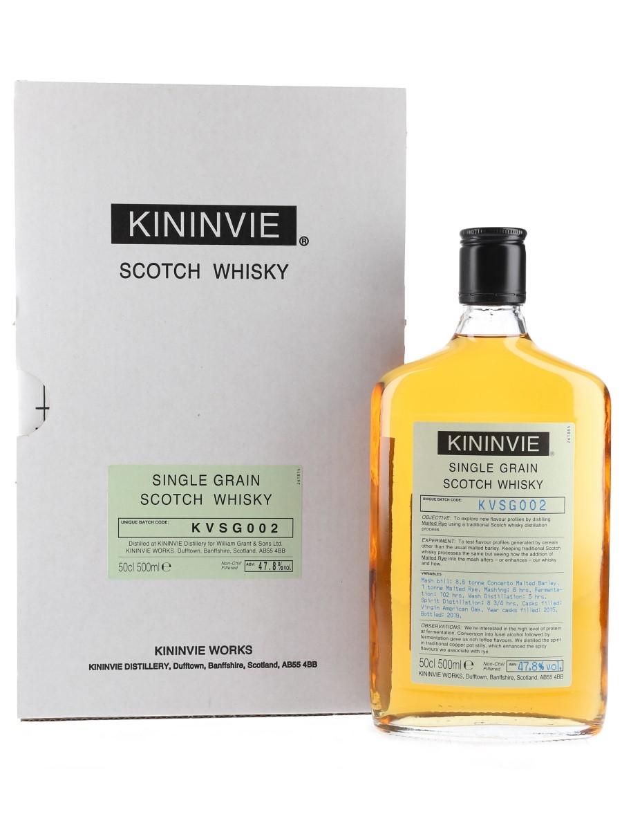 Kininvie 2015 Single Grain Batch KVSG002 Bottled 2019 50cl / 47.8%
