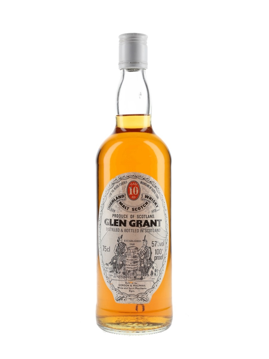 Glen Grant 10 Year Old 100 Proof Bottled 1980s - Gordon & MacPhail 75cl / 57%