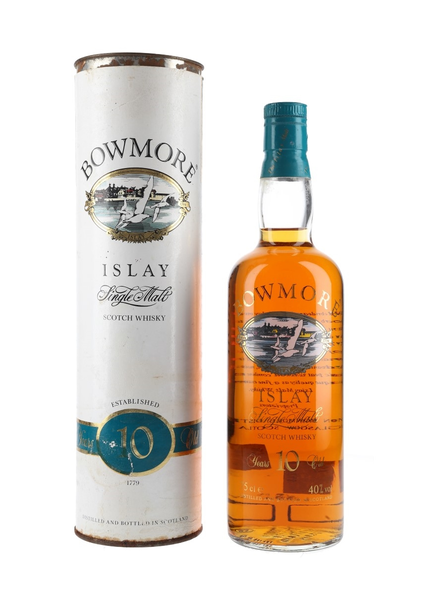 Bowmore 10 Year Old Bottled 1980s - Screen Printed Label 75cl / 40%