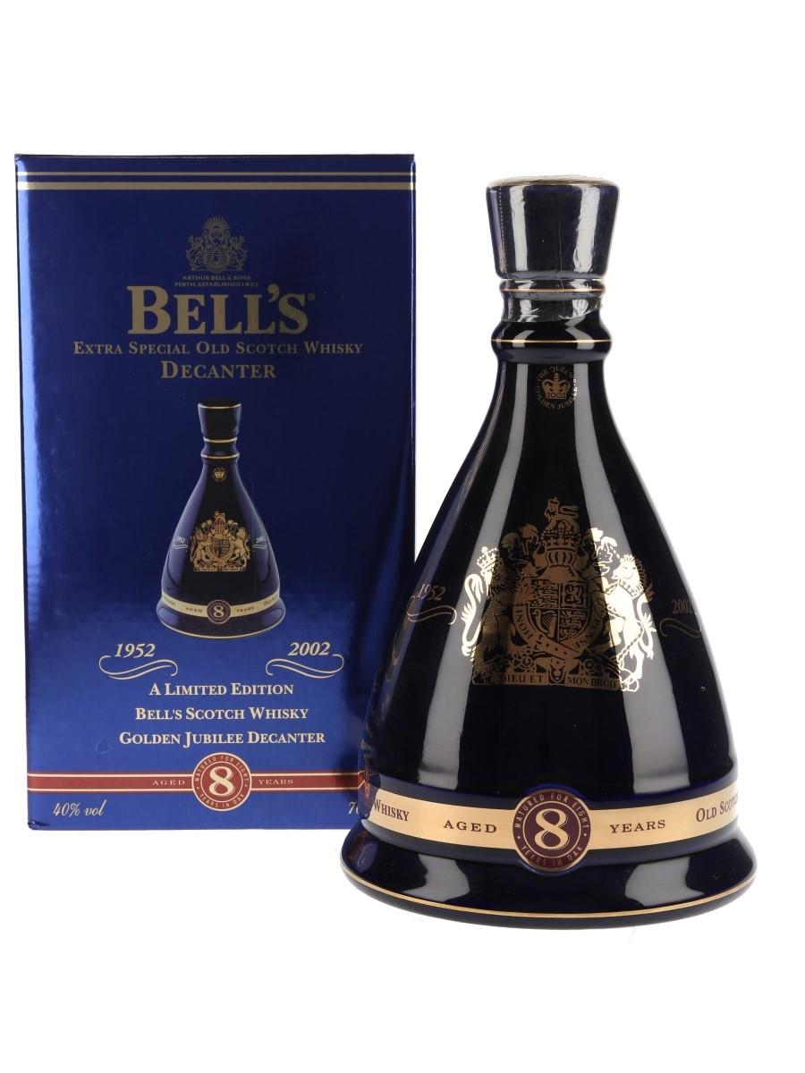 Bell's Ceramic Decanter 2002 Golden Jubilee Queen Elizabeth II 50 Years Reign 70cl / 40%
