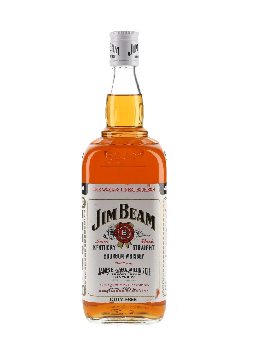 Jim Beam White Label 4 Year Old Duty Free 100cl / 40%
