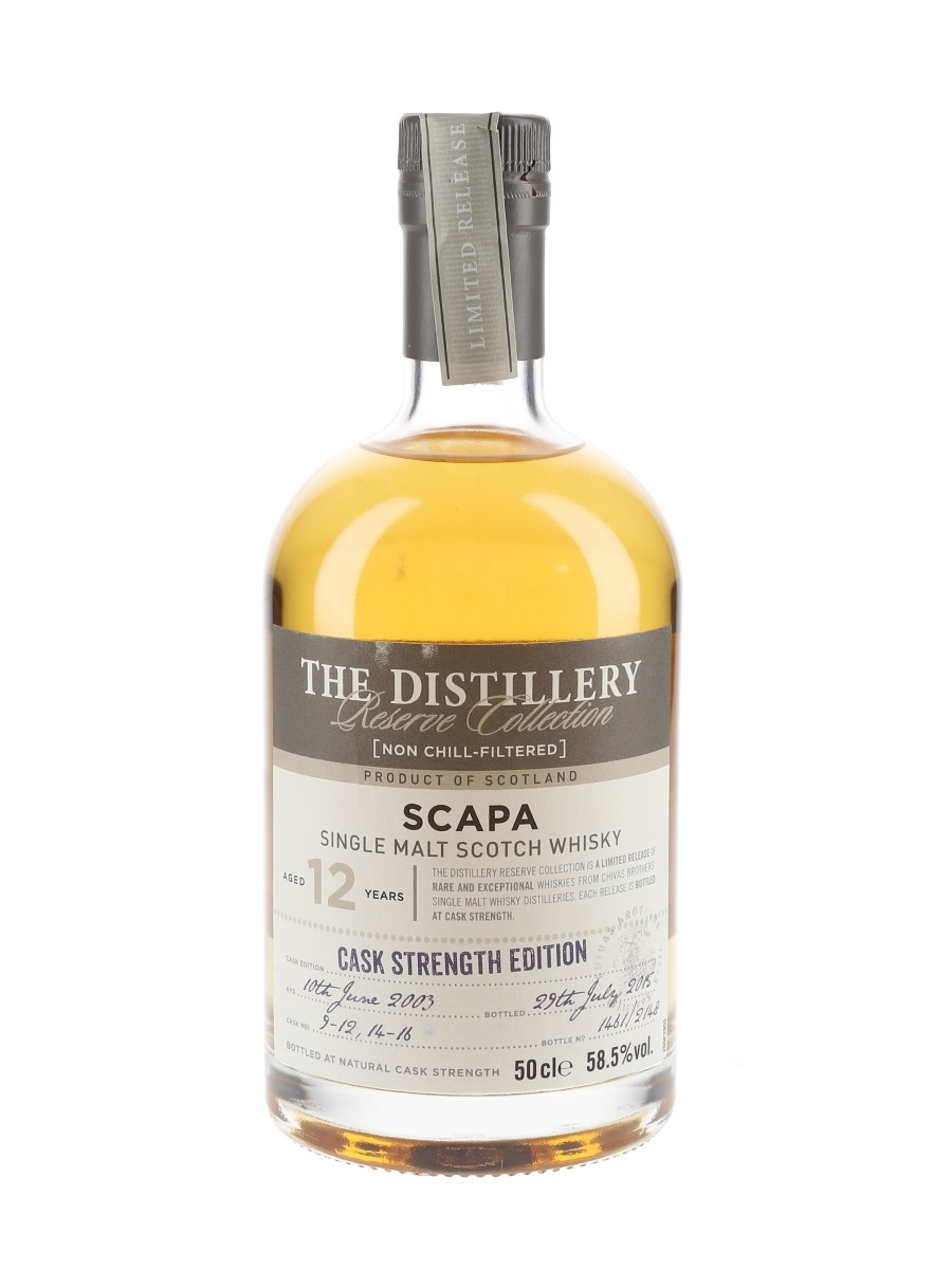 Scapa 2003 12 Year Old The Distillery Reserve Collection Bottled 2015 - Chivas Brothers 50cl / 58.5%