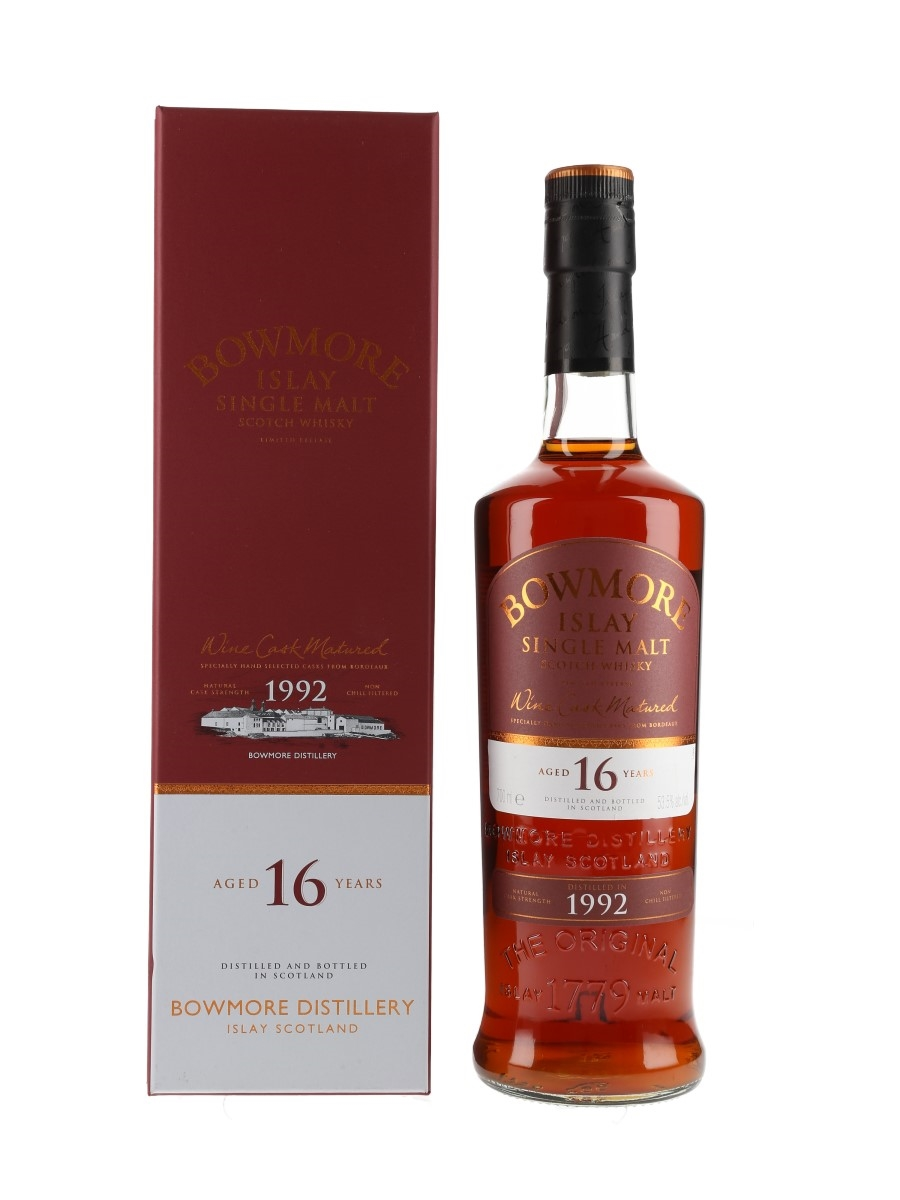 Bowmore 1992 16 Year Old Wine Cask Matured Bottled 2008 70cl / 53.5%