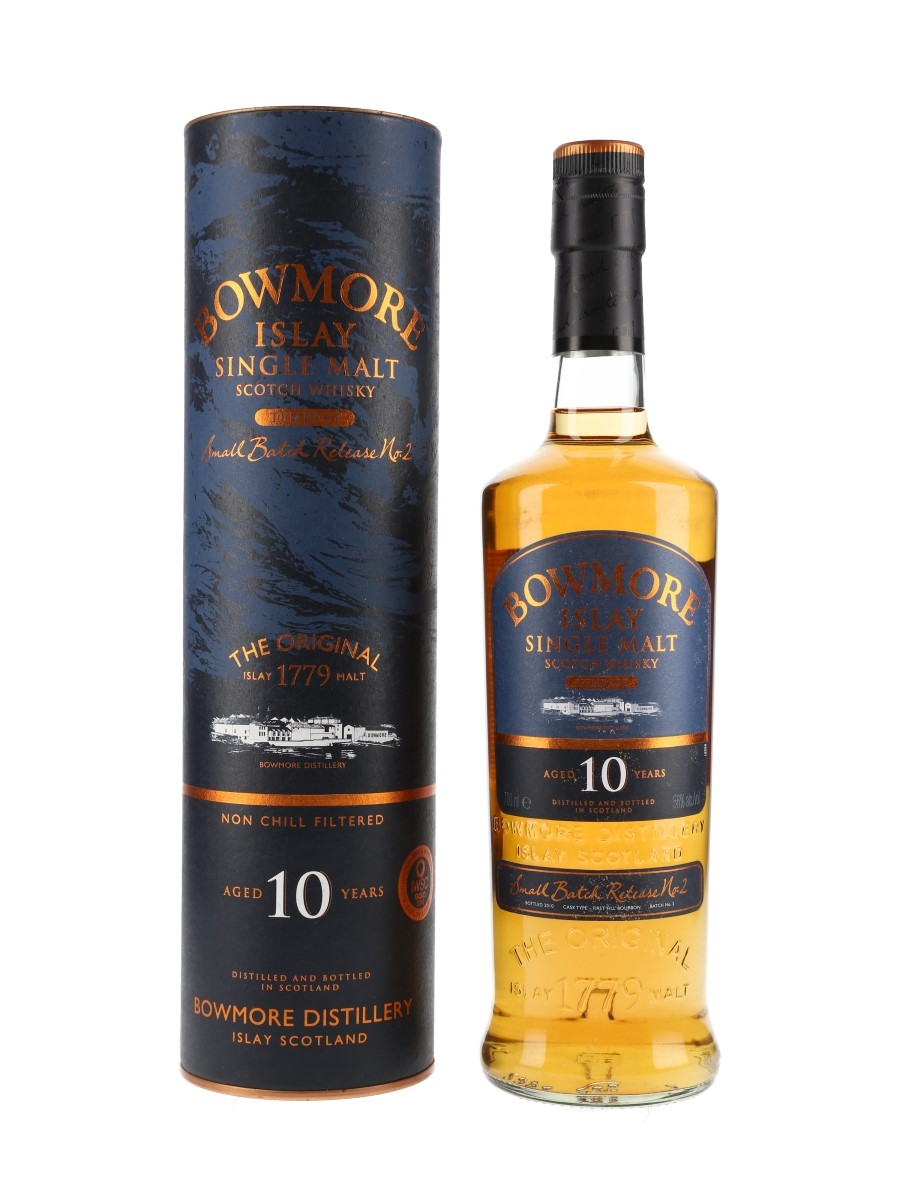 Bowmore Tempest 10 Year Old Bottled 2010 - Batch No. 2 70cl / 56%