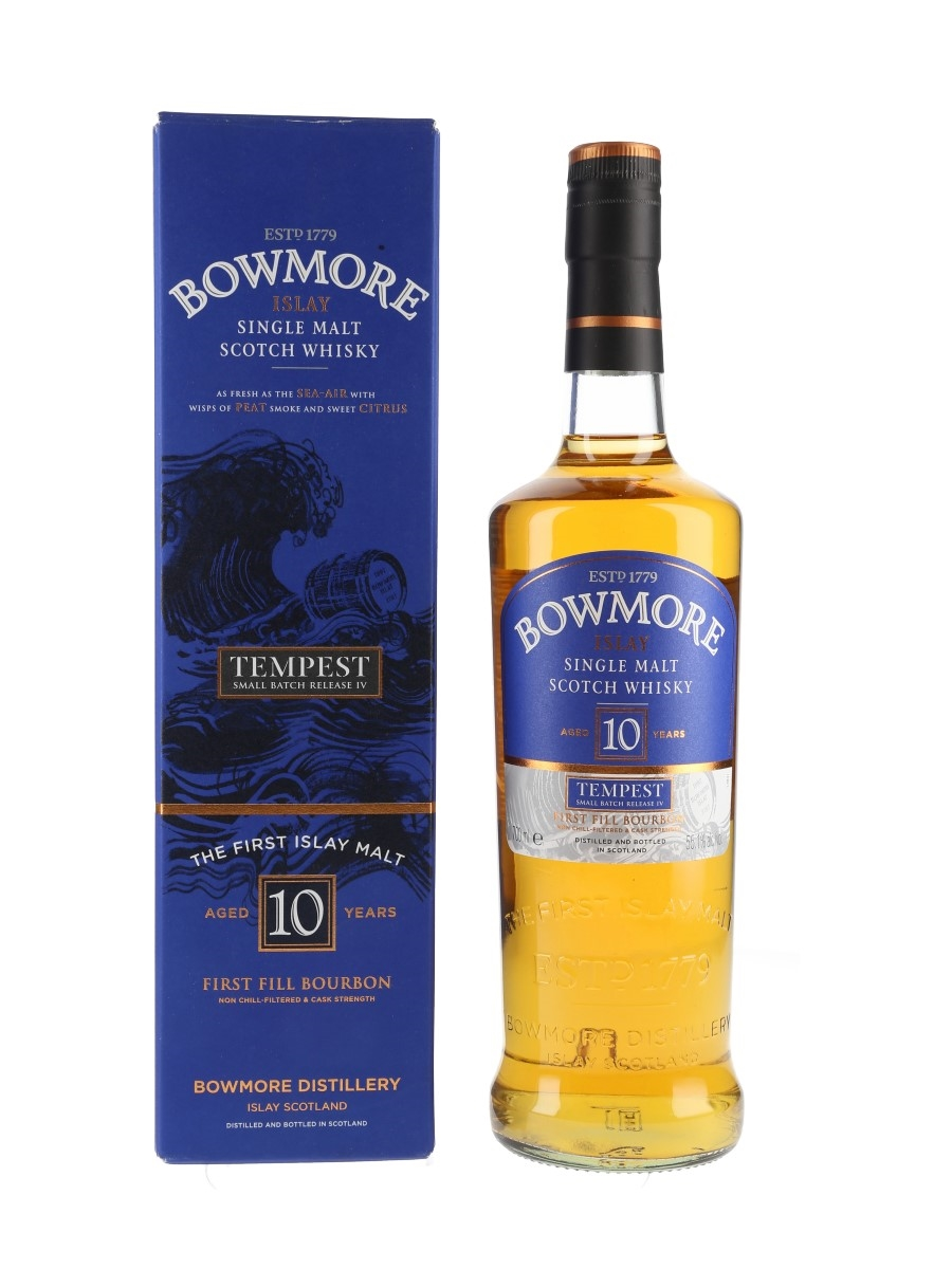 Bowmore Tempest 10 Year Old Bottled 2012 - Batch No. 4 70cl / 55.1%