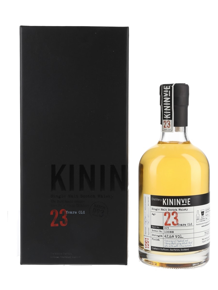 Kininvie 1991 23 Year Old Third Release Batch No. 003 35cl / 42.6%