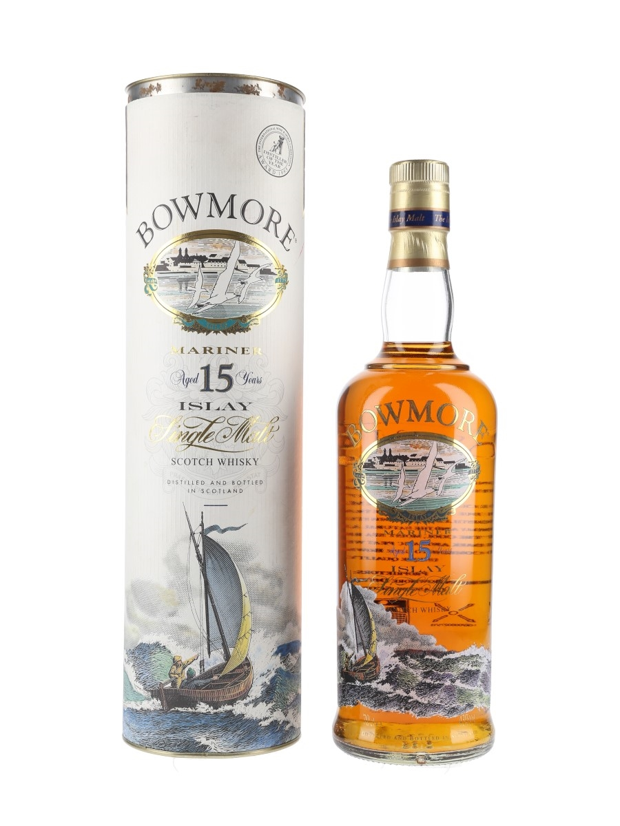 Bowmore 15 Year Old Mariner Bottled 1990s - Screen Printed Label 70cl / 43%