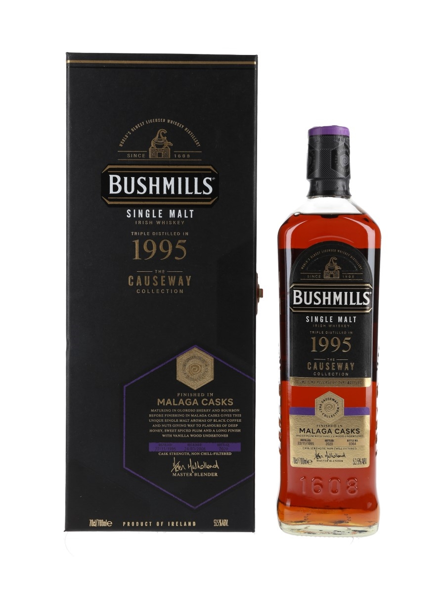 Bushmills 1995 The Causeway Collection Bottled 2020 - Malaga Cask Finish 70cl / 53.5%