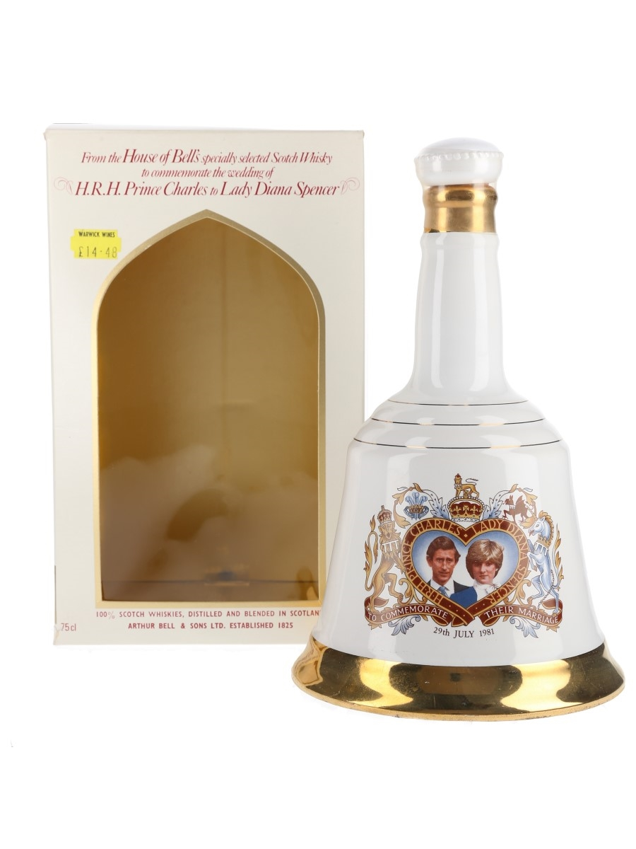 Bell's Ceramic Decanter Royal Wedding 1981 - Prince Charles & Lady Diana Spencer 75cl / 40%