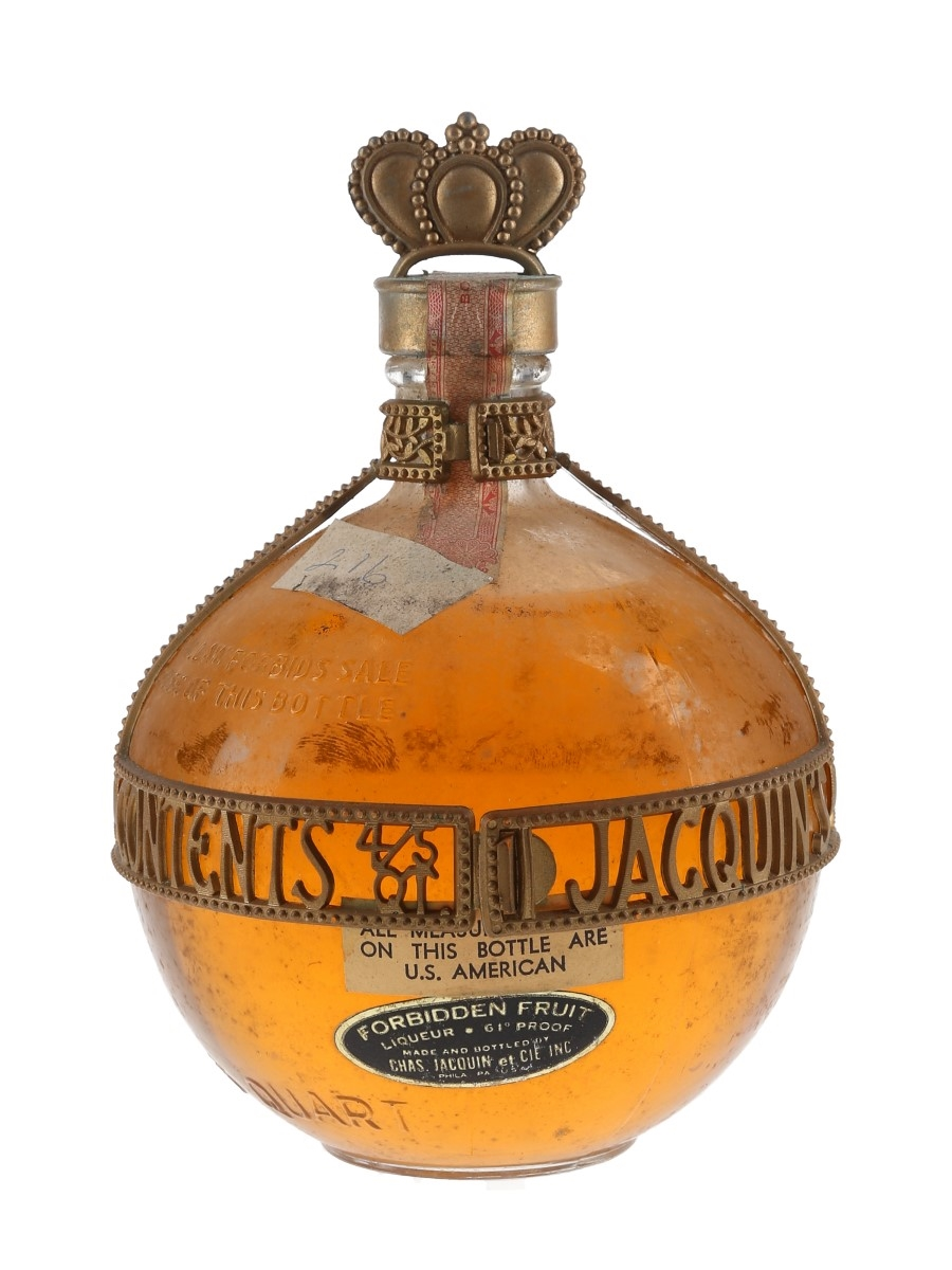 Jacquin's Forbidden Fruit Liqueur Bottled 1960s - Chambord 75.7cl / 30.5%