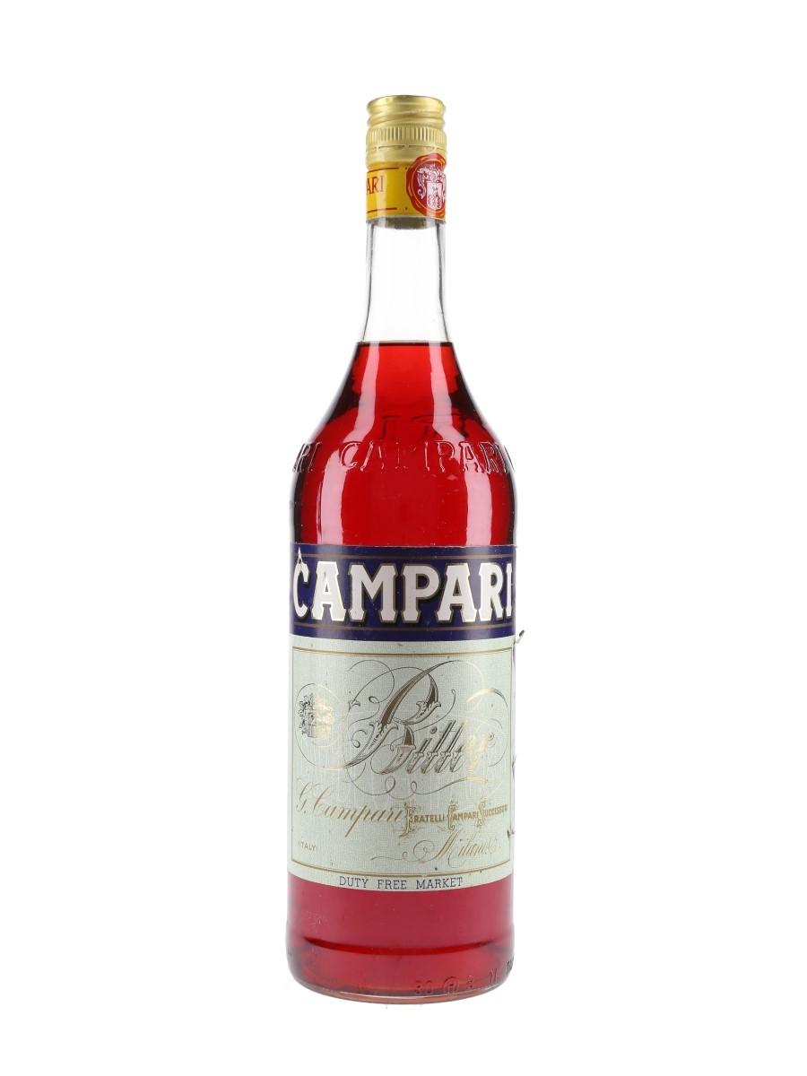 Campari Bitter Bottled 1980s - Duty Free 100cl / 28.5%