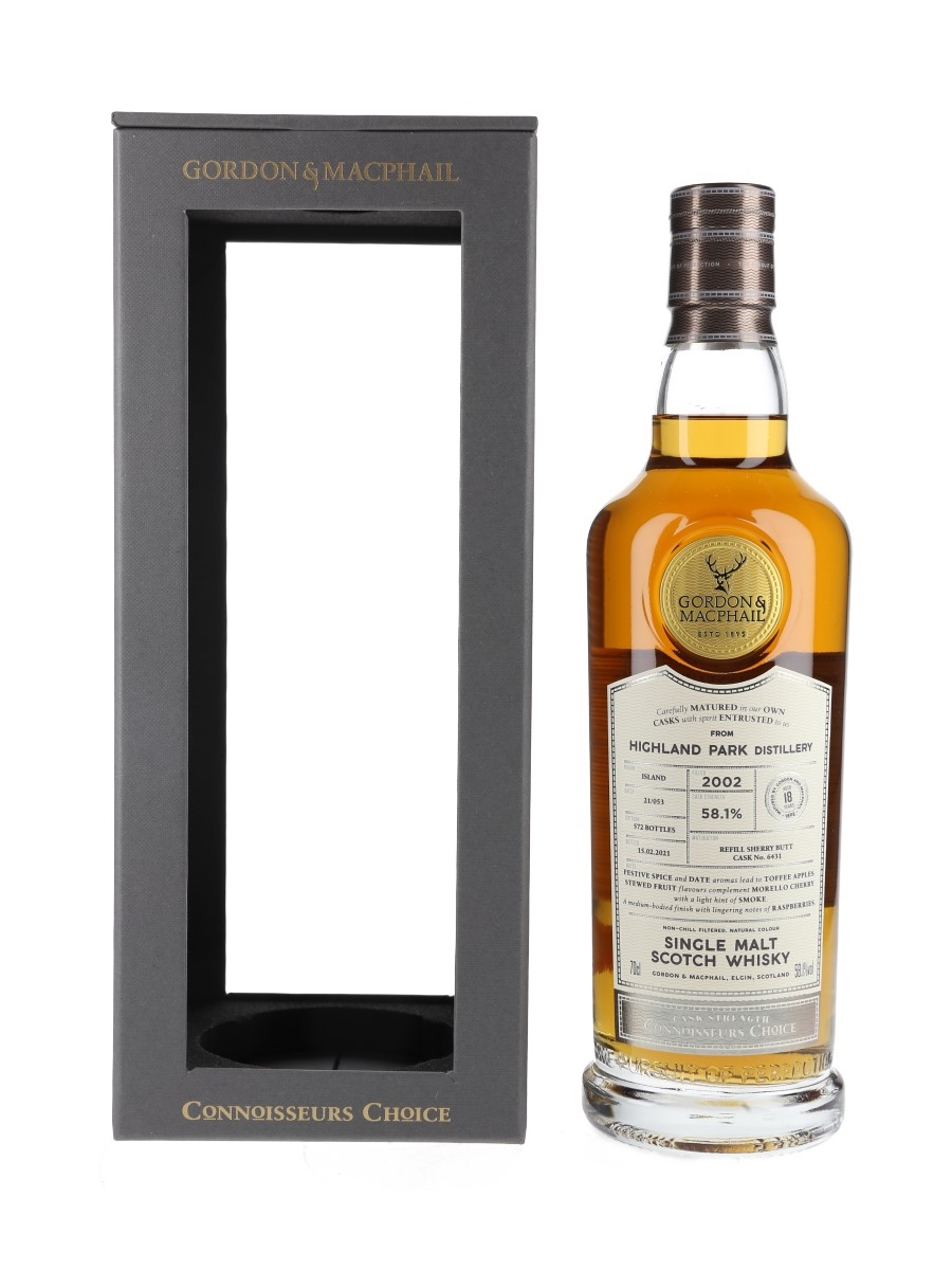 Highland Park 2002 18 Year Old Connoisseurs Choice Bottled 2021 - Gordon & MacPhail 70cl / 58.1%