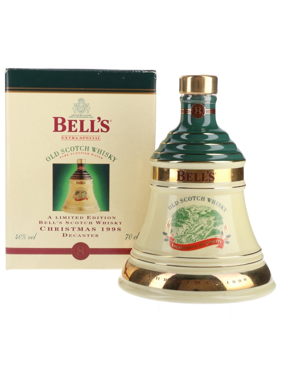 Bell's Christmas 1998 Ceramic Decanter Ingredients of Quality 70cl / 40%