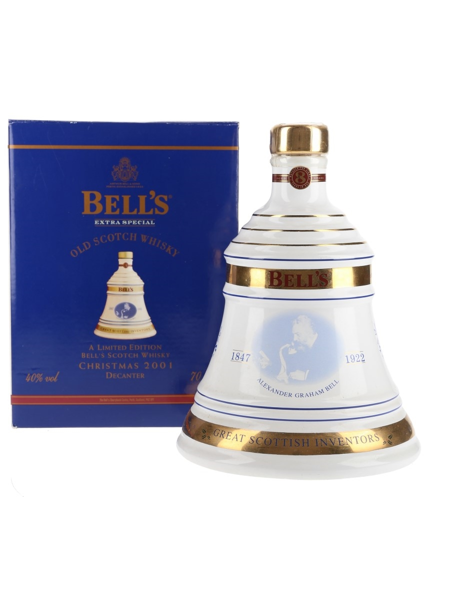Bell's Christmas 2001 Ceramic Decanter 8 Year Old - Alexander Graham Bell 70cl / 40%