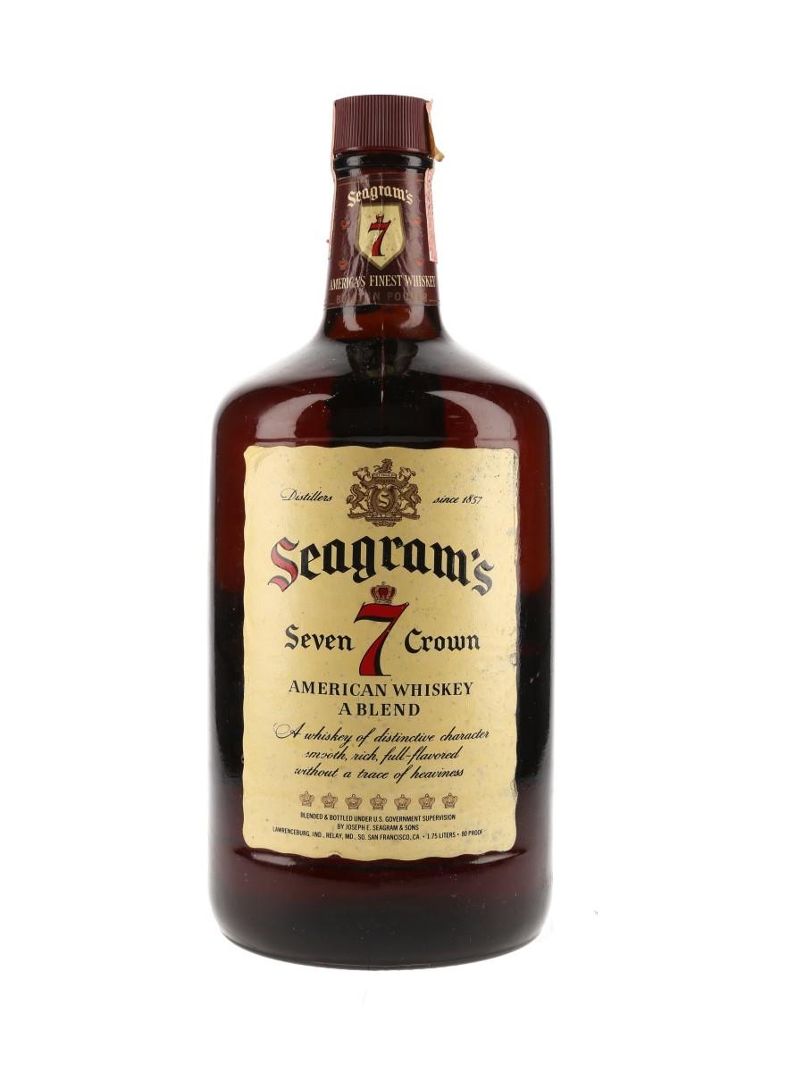 Seagram's 7 Crown Bottled 1980s - Large Format 175cl / 40%