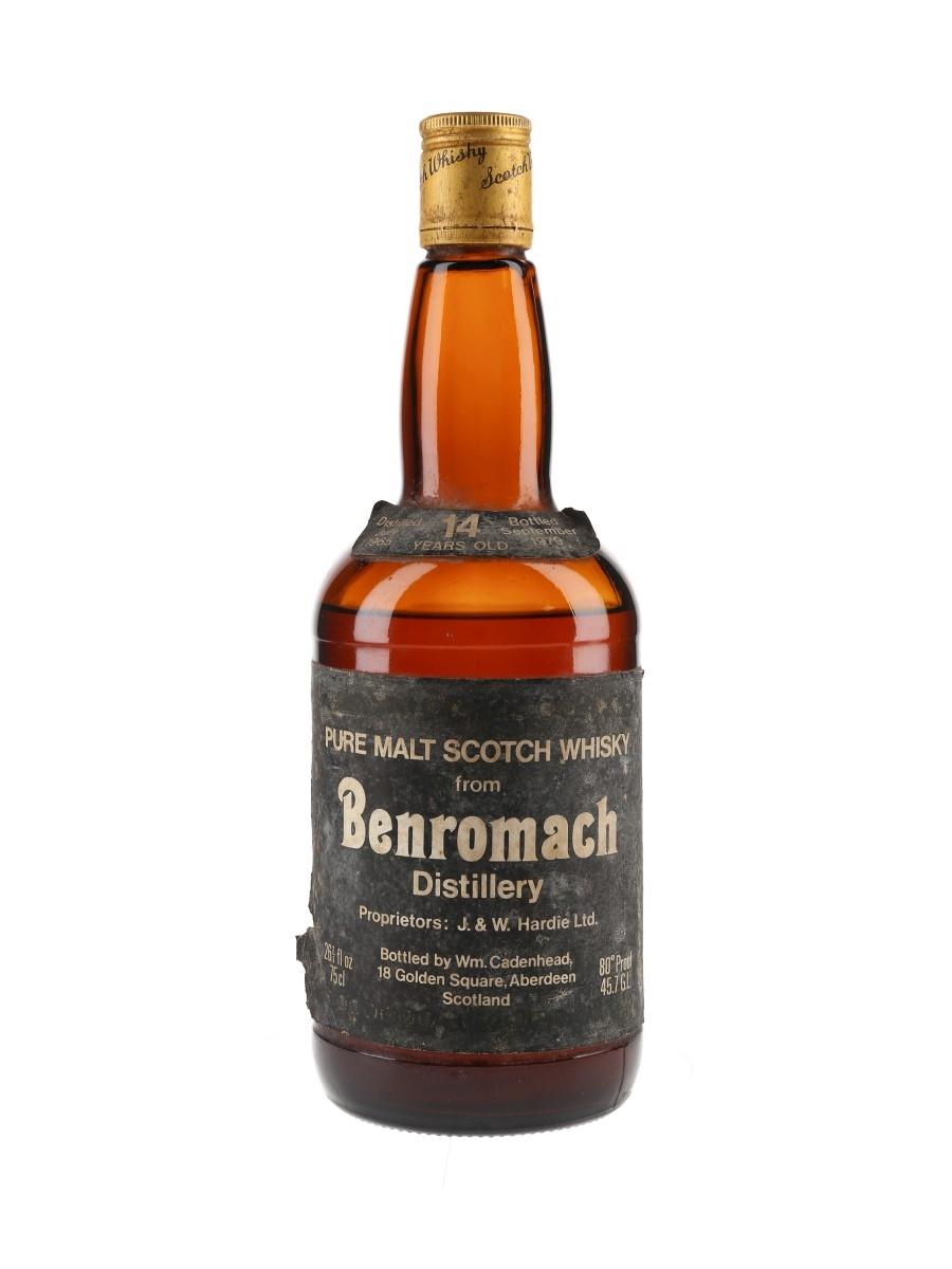 Benromach 1965 14 Year Old Bottled 1979 - Cadenhead 'Dumpy' 75cl / 45.7%