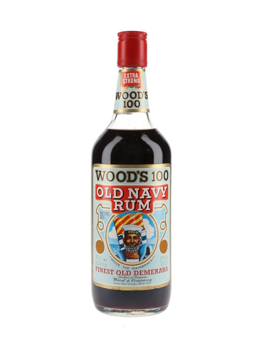 Wood's 100 Old Navy Rum Bottled 1970s-1980s 75cl / 57%