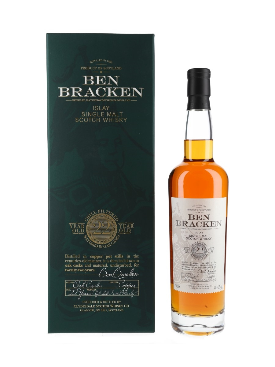 Ben Bracken 1993 22 Year Old Clydesdale Scotch Whisky Co 70cl / 40%