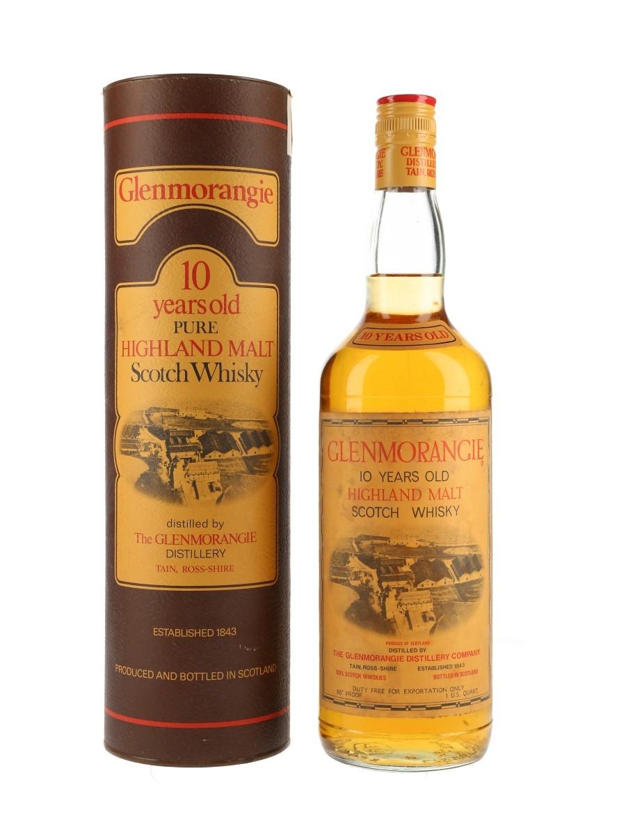 Glenmorangie 10 Year Old Bottled 1970s - Duty Free 94.6cl / 43%