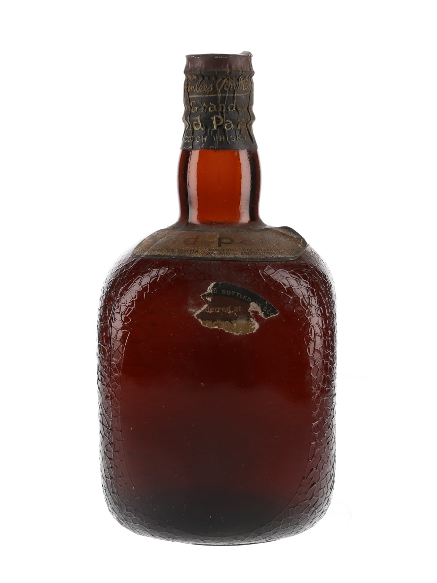 Grand Old Parr De Luxe Spring Cap Bottled 1950s 75.7cl