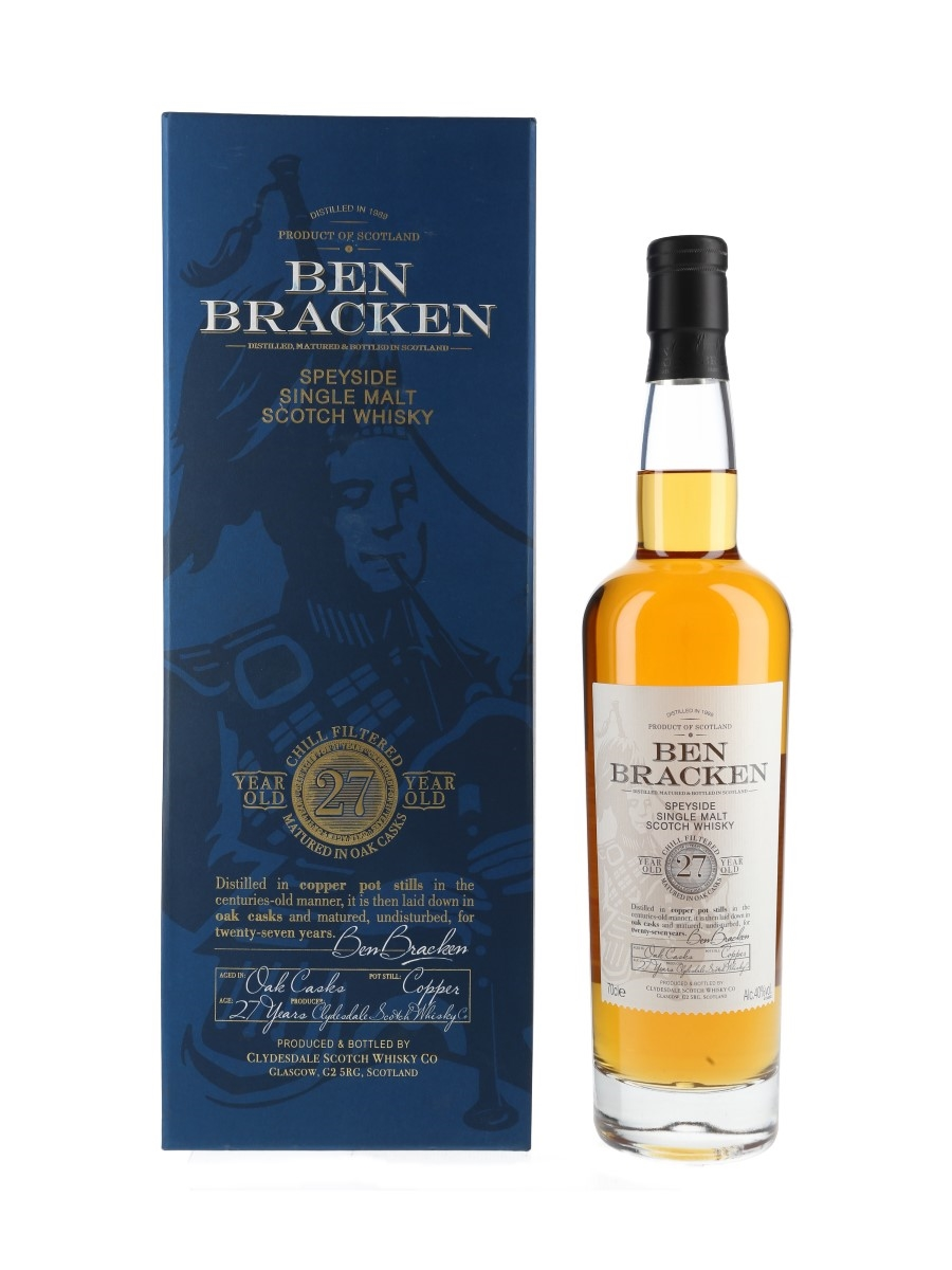 Ben Bracken 1989 27 Year Old Clydesdale Scotch Whisky Co 70cl / 40%