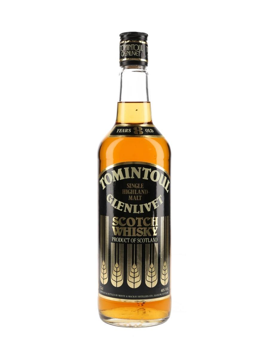 Tomintoul Glenlivet 8 Year Old Bottled 1980s - Whyte & Mackay 75cl / 40%