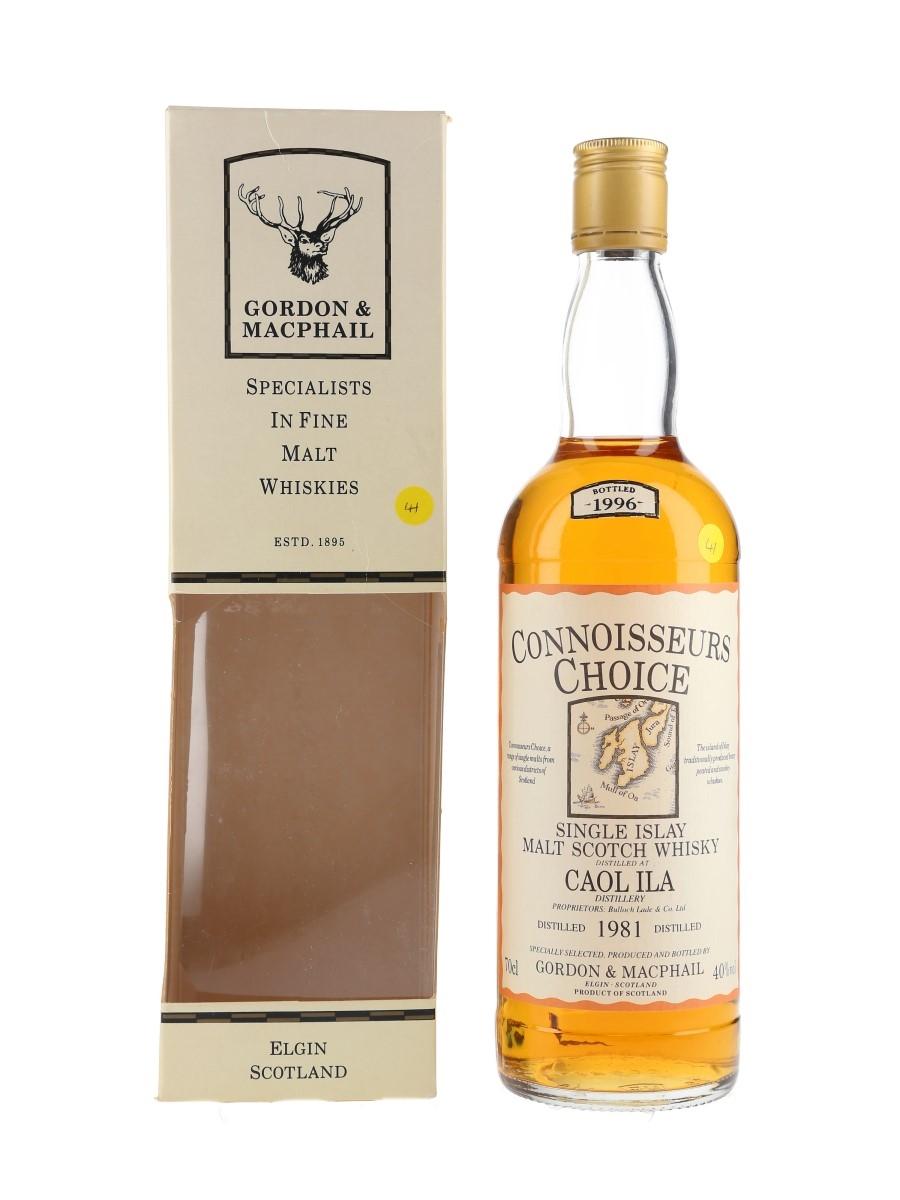 Caol Ila 1981 Connoisseurs Choice Bottled 1996 - Gordon & MacPhail 70cl / 40%