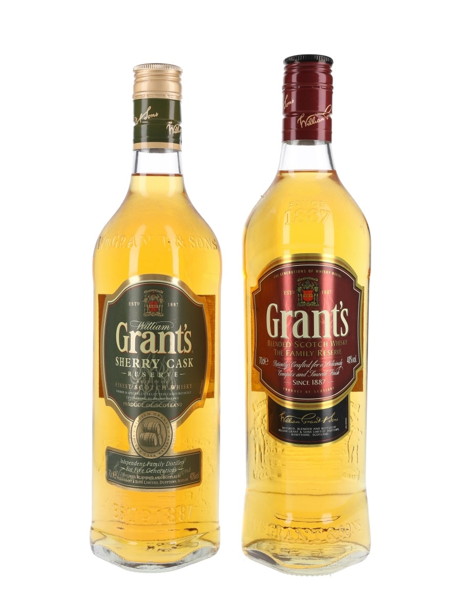 Grant's Family Reserve & Sherry Cask Reserve  2 x 70cl / 40%