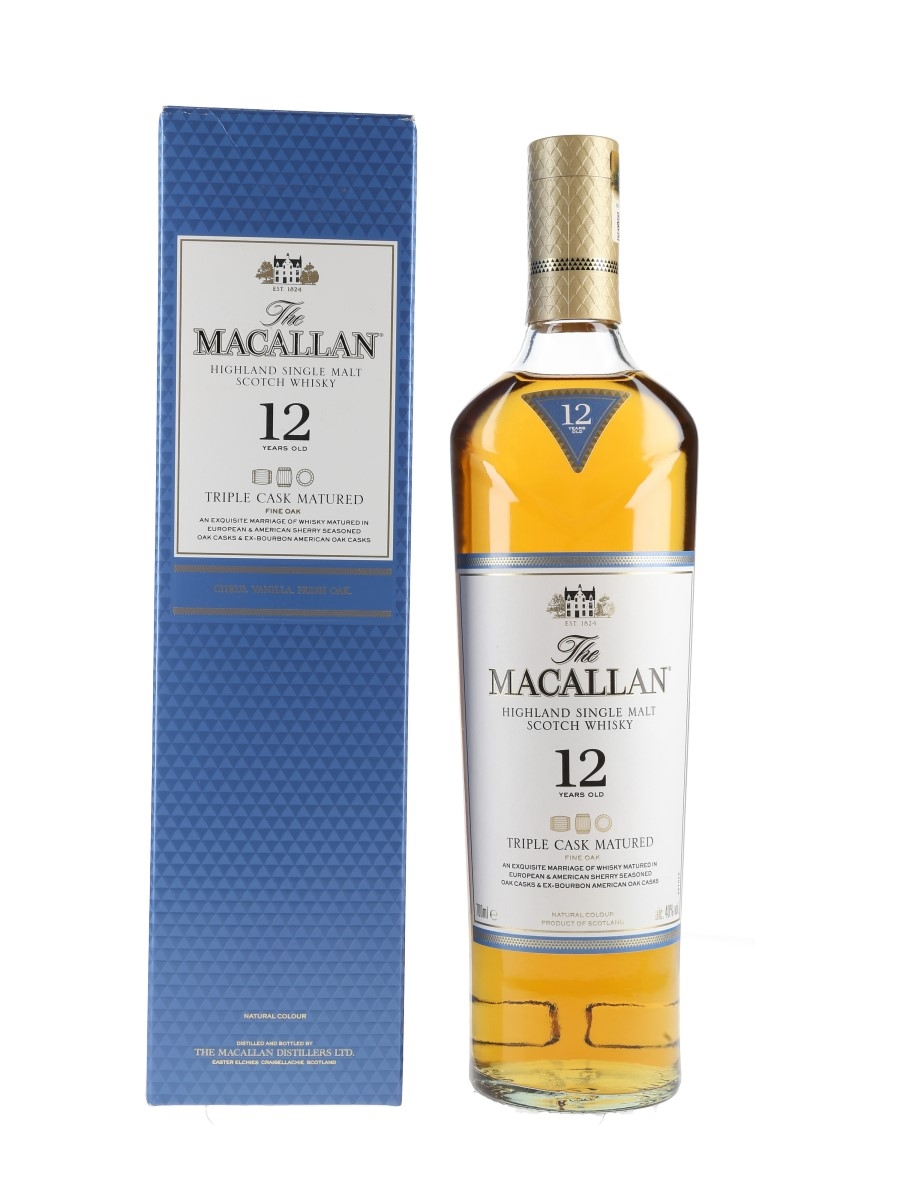 Macallan 12 Year Old Fine Oak Triple Cask Matured 70cl / 40%