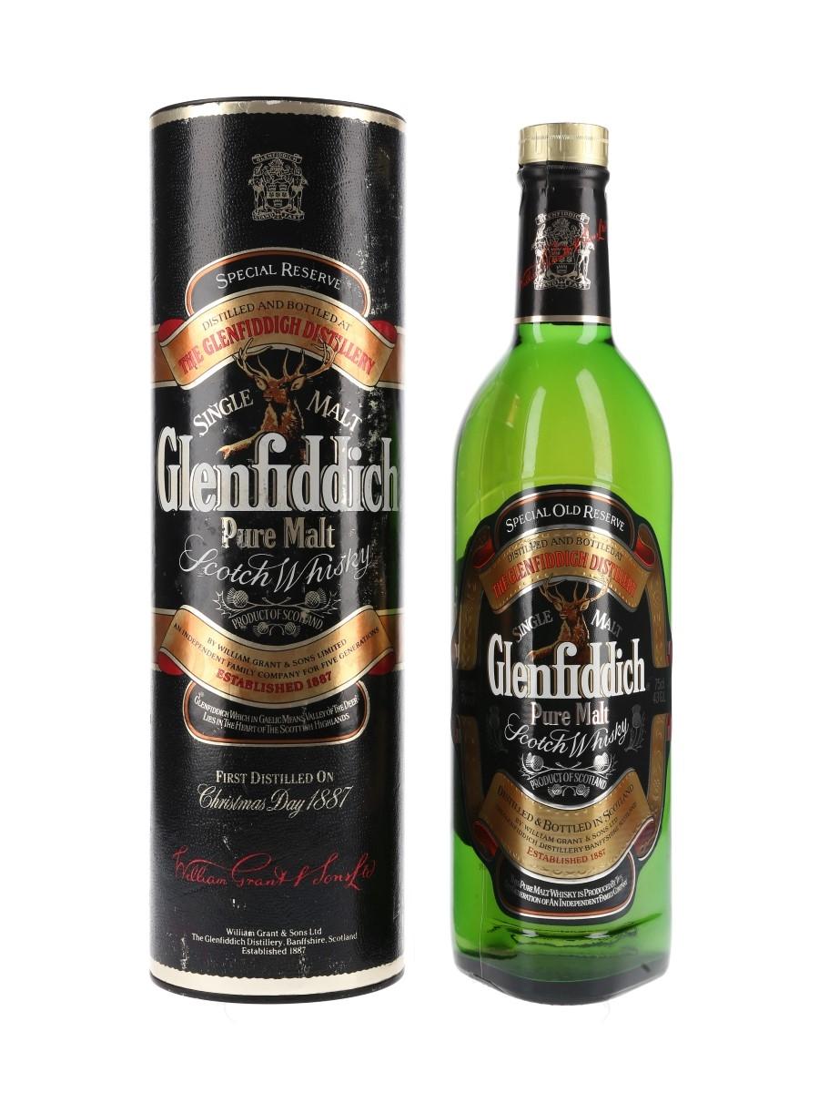 Glenfiddich Special Old Reserve Pure Malt Bottled 1980s 75cl / 40%