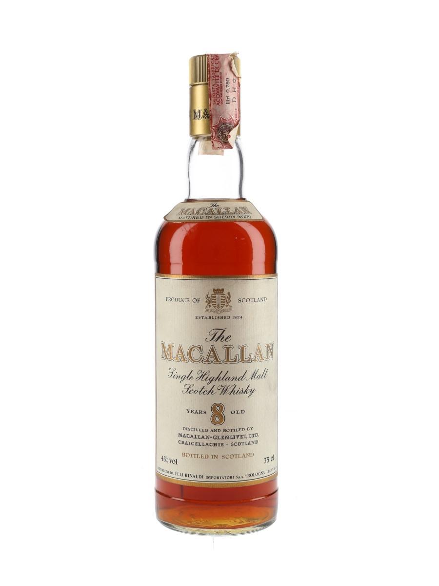 Macallan 8 Year Old Bottled 1980s - Rinaldi 75cl / 43%