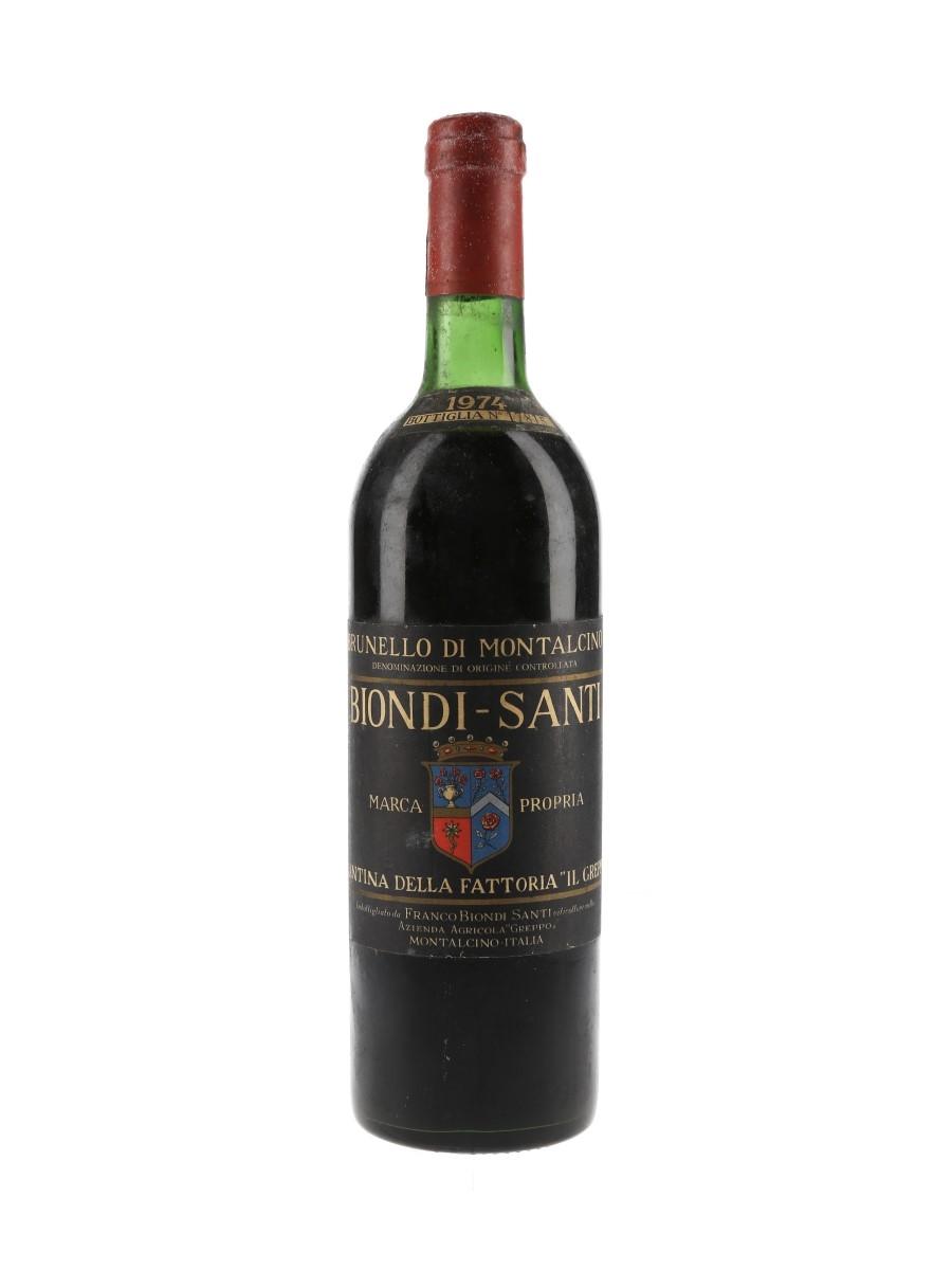 Biondi Santi 1974 Brunello Di Montalcino  72cl / 12.5%