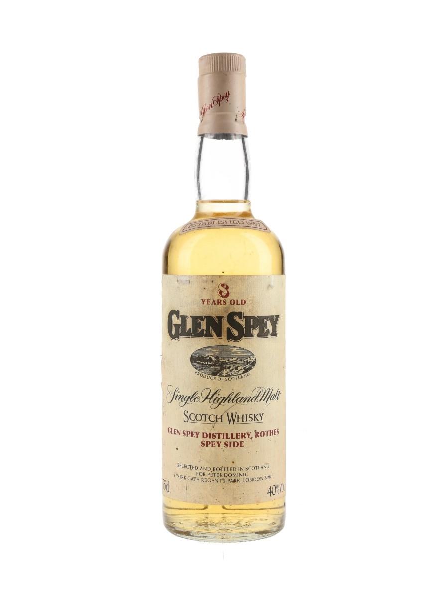 Glen Spey 8 Year Old Bottled 1980s - Peter Dominic 75cl / 40%