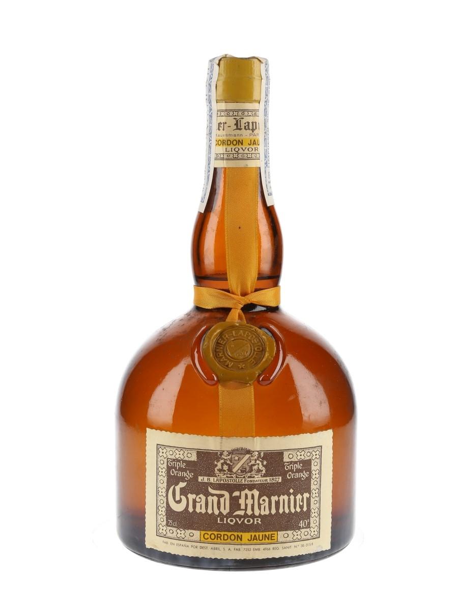 Grand Marnier Cordon Jaune Bottled 1970s - Spain 75cl / 40%
