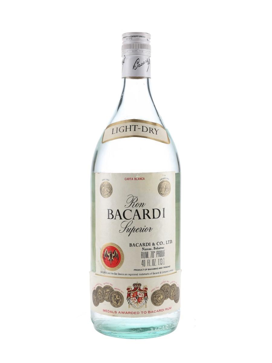 Bacardi Carta Blanca Bottled 1970s - Nassau, Bahamas 113cl / 40%