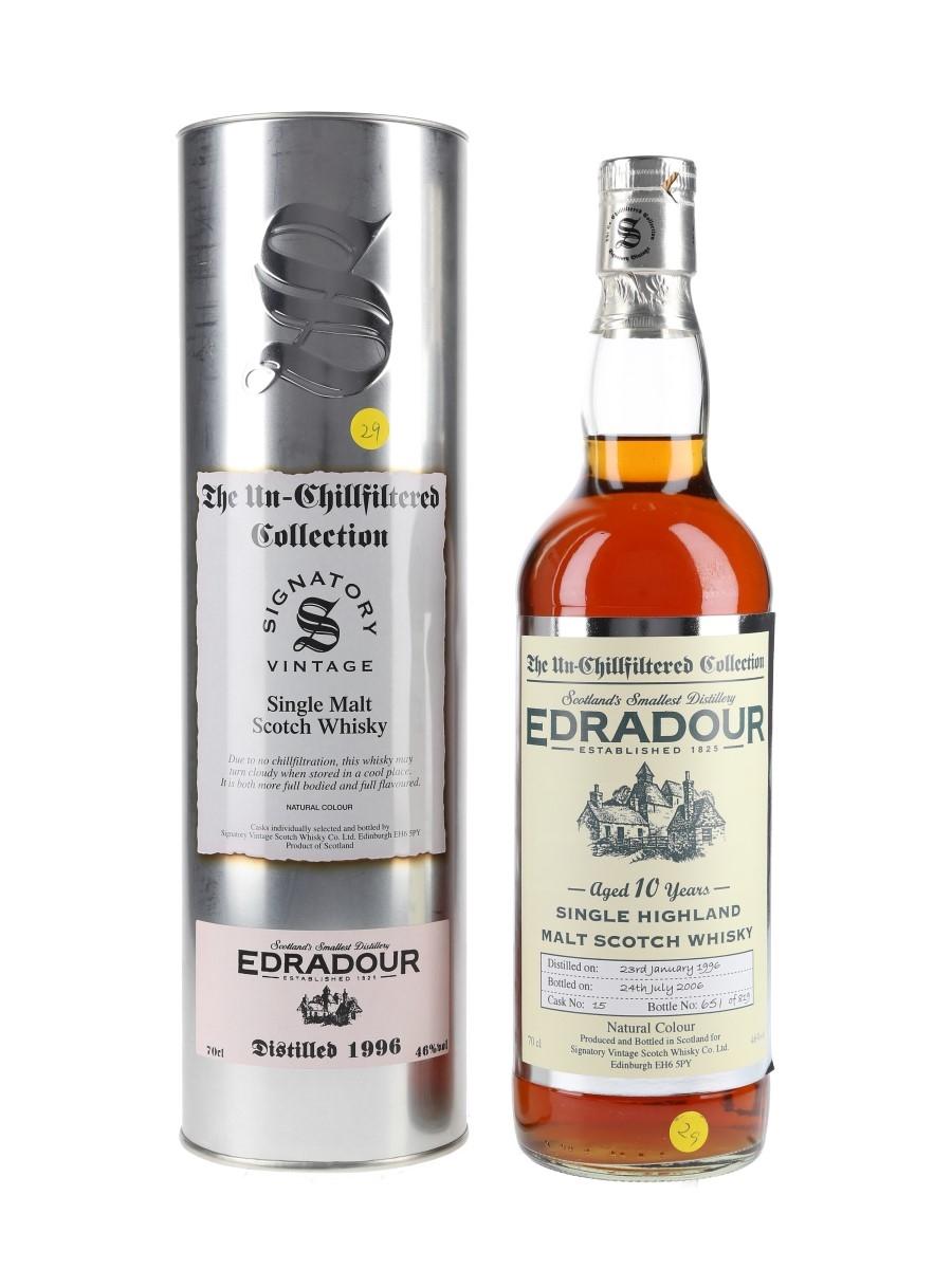 Edradour 1996 10 Year Old Bottled 2006 - Signatory Vintage 70cl / 46%