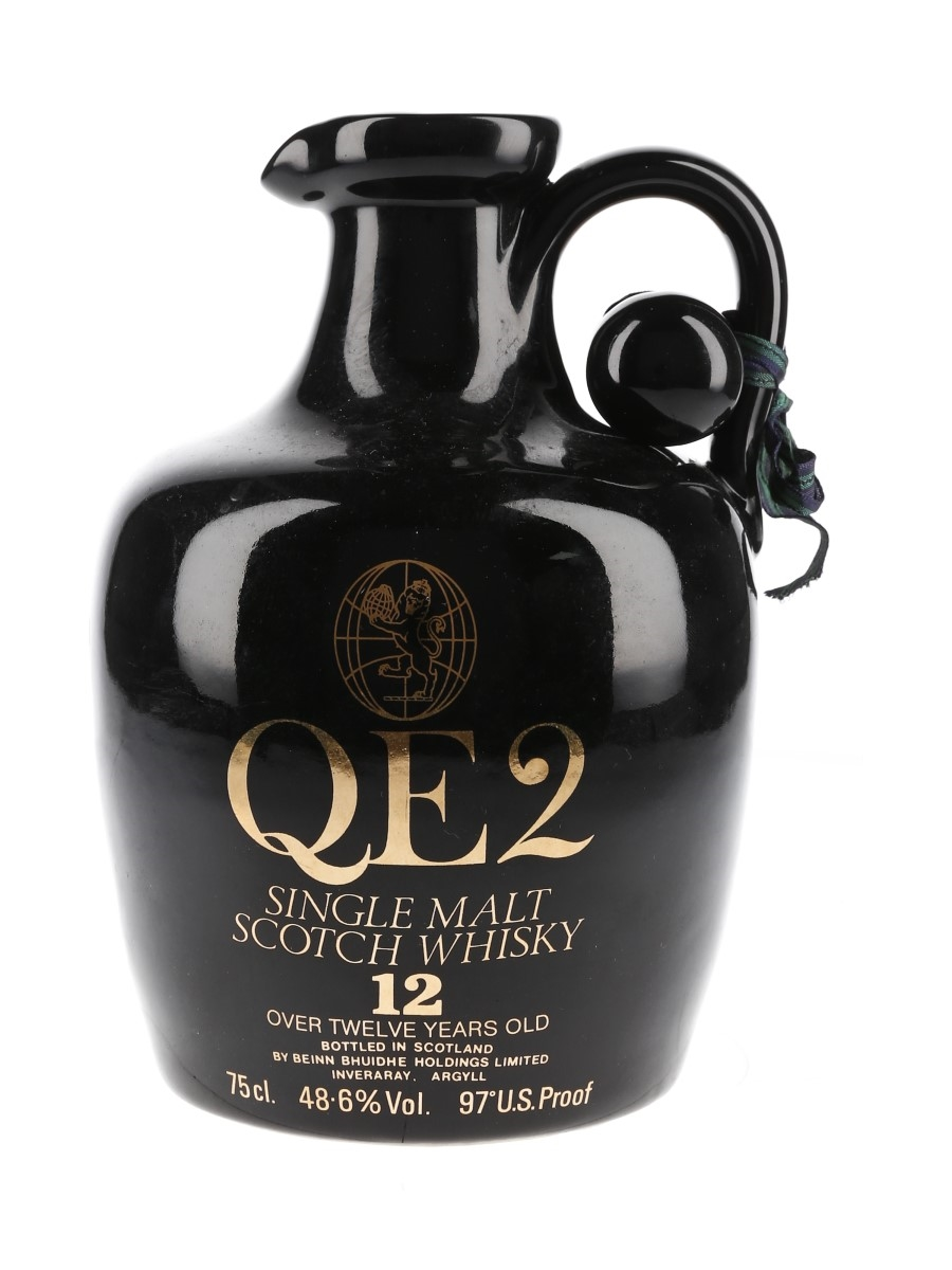 QE2 12 Year Old Ceramic Decanter Bottled 1980s 75cl / 48.6%