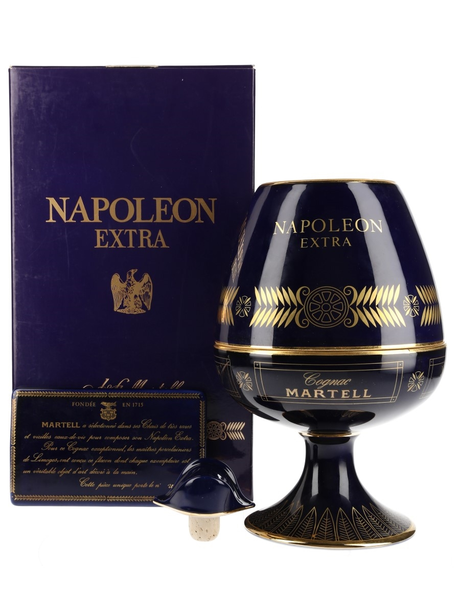 Martell Napoleon Extra Bottled 1980s - Haviland Ceramic Decanter 70cl / 40%