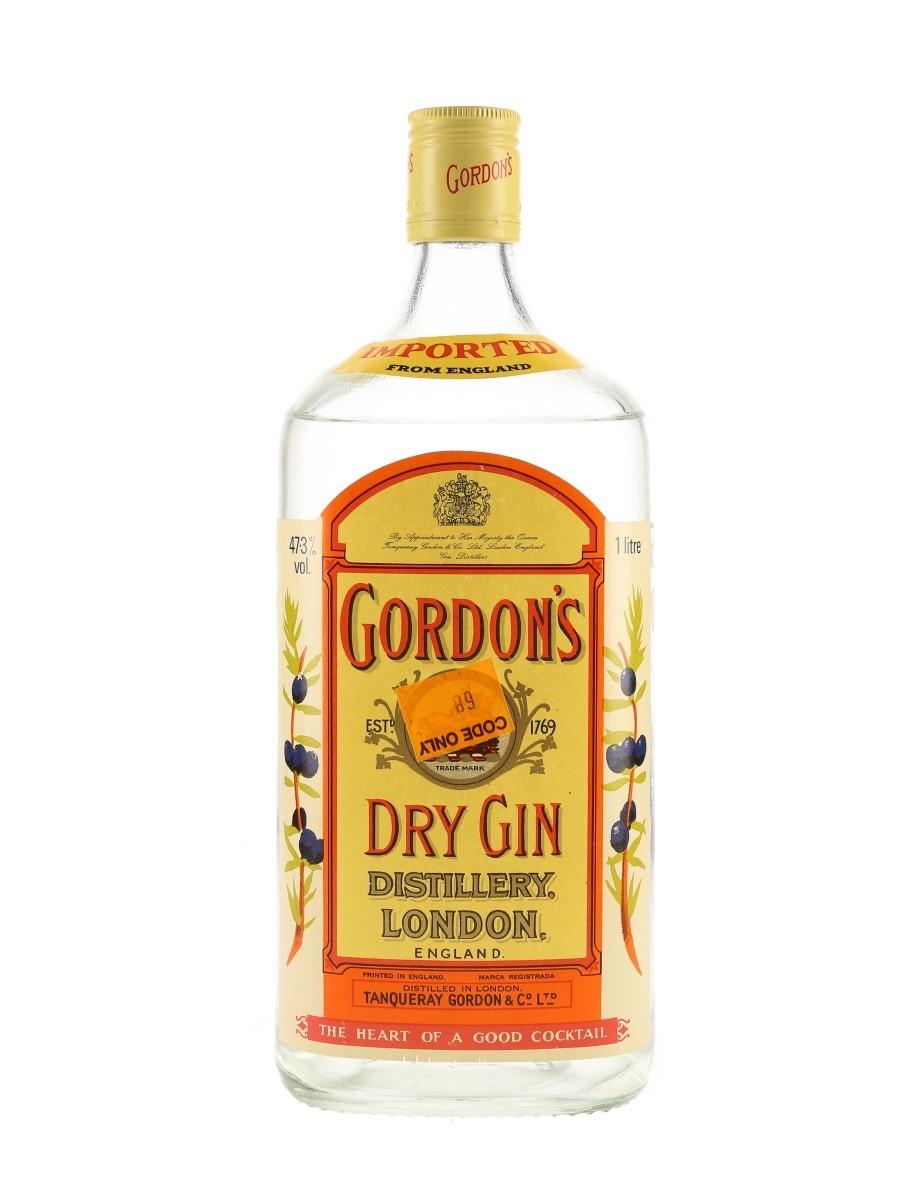 Gordon's Dry Gin Bottled 1980s - Ireland Duty Free 100cl / 47.3%