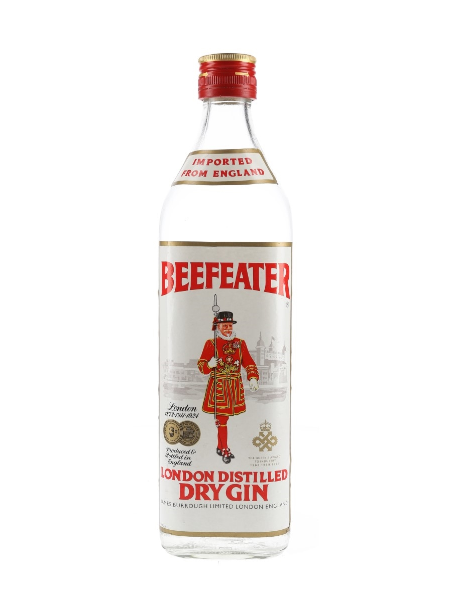Beefeater London Distilled Dry Gin Bottled 1970s 75cl