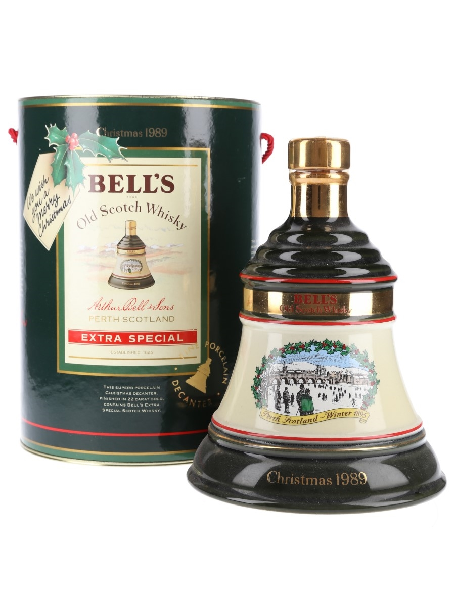 Bell's Christmas 1989 Ceramic Decanter Perth Winter 1895 75cl / 43%