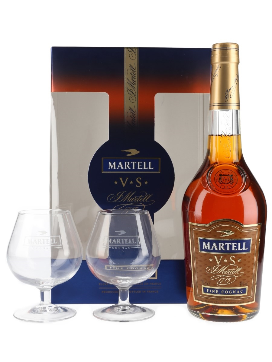 Martell 3 Star VS Gift Set with Tasting Glasses 70cl / 40%