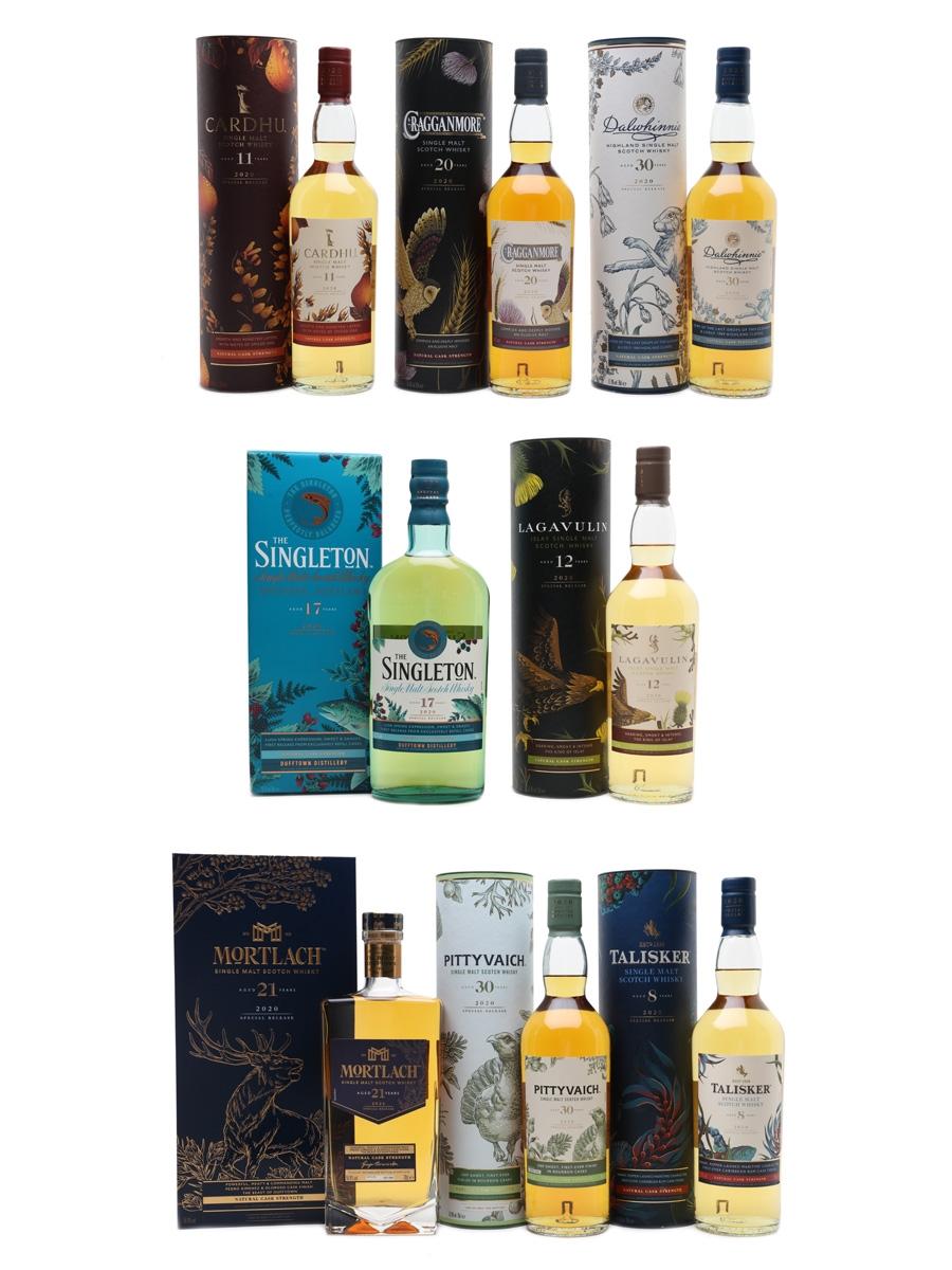 Diageo Special Releases 2020 Cardhu, Cragganmore, Dalwhinnie, Lagavulin, Mortlach, Pittyvaich, Singleton Of Dufftown, Talisker 8 x 70cl