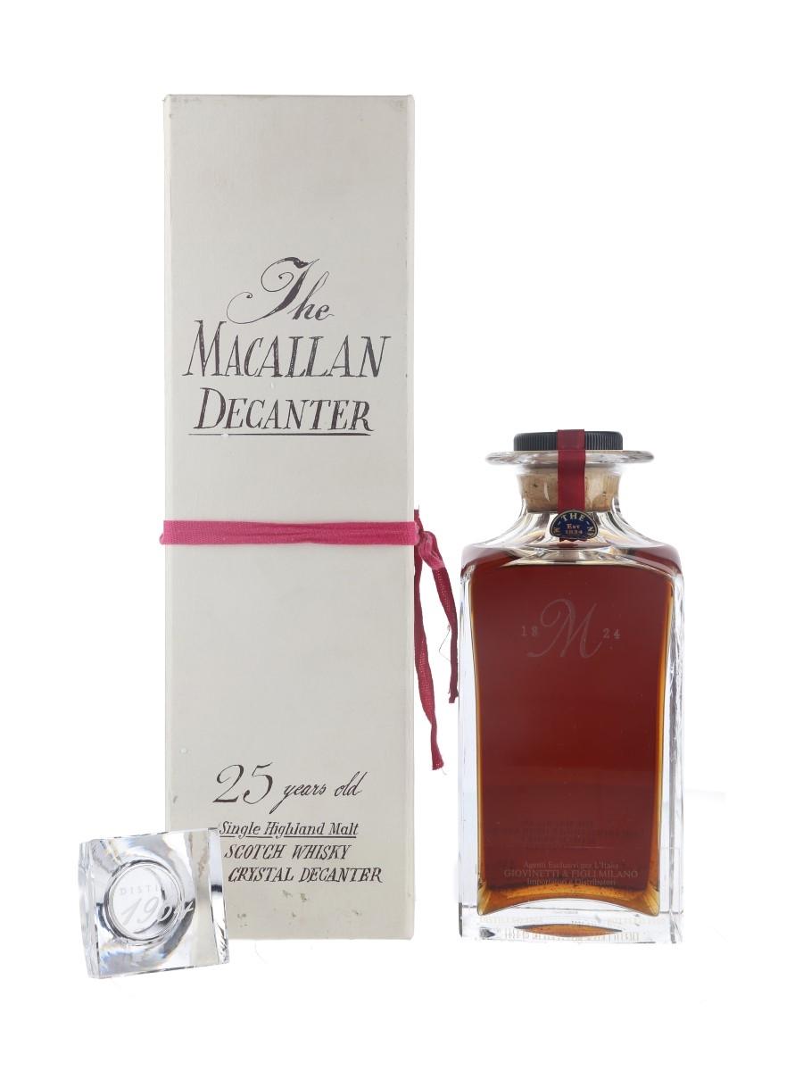 Macallan 1964 25 Year Old Tudor Crystal Decanter Bottled 1989 - Giovinetti 75cl / 43%